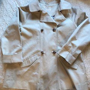 Zara kids trench coat beige size girls 9/10